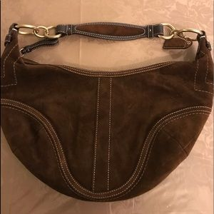 Coach suede brown purse